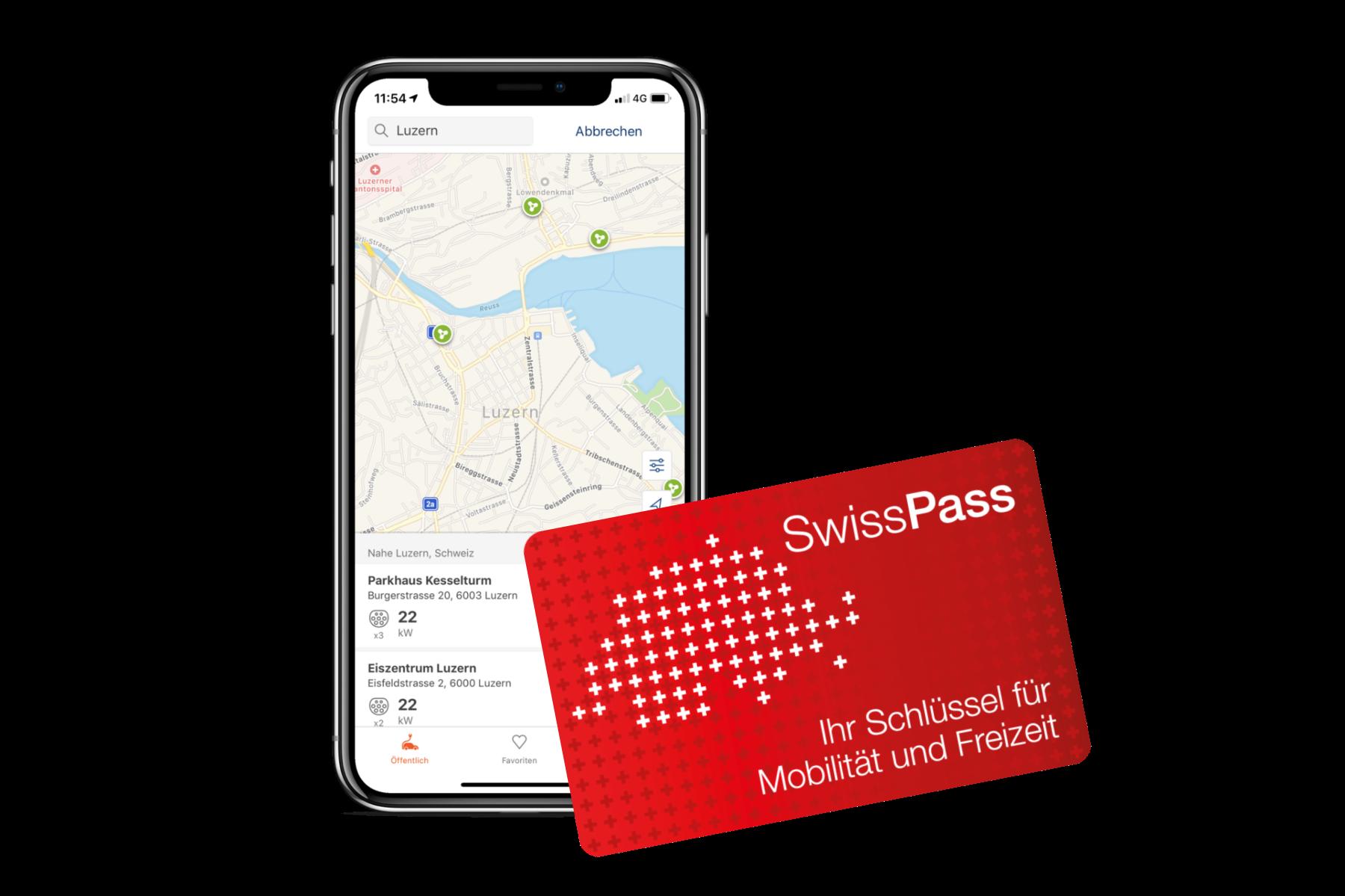 SwissPass als Ladekarte